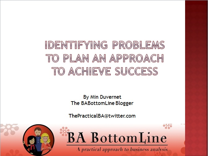 Identifying Problems to Plan an Approach to Achieve Success